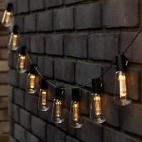 GloBrite Guirlande lumineuse rétro à 10 LED à énergie solaire