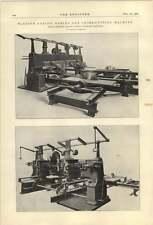 1921 Thomas Robinson Rochdale Sleeper Cutting Machine