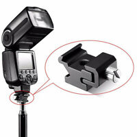 Aluminum Alloy Camera Flash Mounting Light Flash Accessories Adapter Flash Base