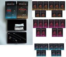SNOKE  E- Zigaretten 2 Stück + Etui + 120 Caps (Menthol, Tabak, Energy)