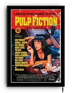 PULP FICTION Light up movie poster framed lightbox led sign home cinema mancave