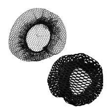 Women Ballet Dance Skating Snoods Hair Net Bun Cover Black 2 Pcs ZH