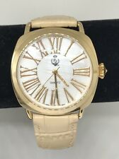 """Premier Designs Jewelry IN VOGUE Watch 8120 Gold Crystal Leather 6""""-8"""" Box"""