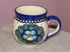 Genuine UNIKAT Polish Pottery 16 oz. Bubble Mug!  Mila Pattern!