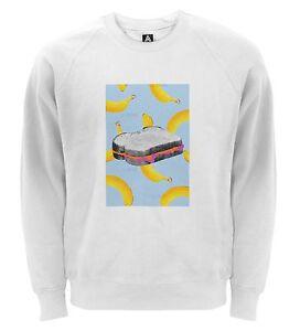 Banana And Jam Sandwich Graphic Pop Art Sweatshirt Retro Jelly Fruit Food Jumper