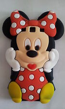 ES- PHONECASEONLINE COVER SILICONE MINNIE RED PER SAMSUNG GALAXY S3 I9300