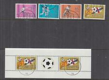 NETHERLANDS ANTILLES, 1982 Sports Funds set of 4 & Souvenir Sheet, used.