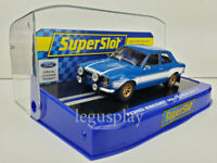 Slot SCX Scalextric Superslot H3592 Ford Escort MK1 Blue/White