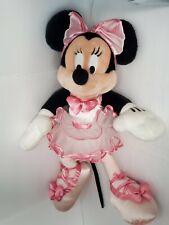 Vtg Rare Walt Disney Park & Resort Plush Minnie Mouse Ballerina Pink Tutu Doll