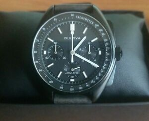 Bulova 98A18 Lunar Pilot Chronograph Men's Watch - Black