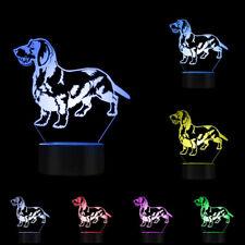Wire Haired Dachshund 3D Lights Sausage Dog Dachshund Dog Wiener Dog Puppy Lamp