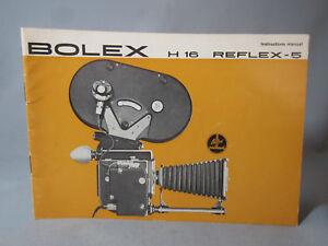 SWISS INSTRUCTION MANUAL for BOLEX REX-5 H16 REFLEX 16MM MOVIE CAMERA