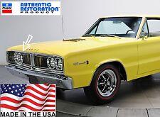 66 Dodge Coronet Hood Lip Trim Molding Anodized Aluminum 1966 Mopar Made in USA
