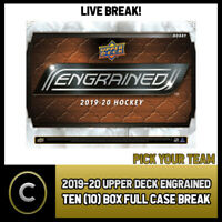 2019-20 UPPER DECK ENGRAINED 10 BOX FULL CASE BREAK #H837 - PICK YOUR TEAM