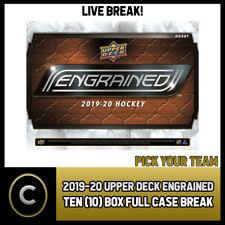 2019-20 UPPER DECK ENGRAINED 10 BOX FULL CASE BREAK #H837 - PICK YOUR TEAM