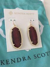 Kendra Scott Elle Bordeaux Tiger Eye and Gold Earrings. $65