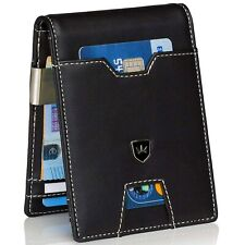 Kronenschein® Geldbörse Herren klein mit Geldklammer RFID Schwarz Portemonnaie