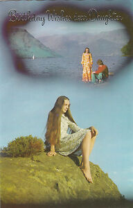 Quite Weird Happy Birthday Daughter Vintage 1970's Greeting Card ~ Daydreams 3