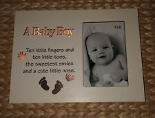 A BABY BOY LIGHT UP PHOTO FRAME LED PICTURE BABY CHRISTENING BIRTHDAY GIFT