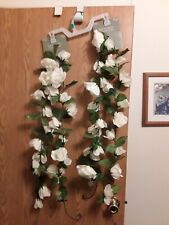 6 ft. Flowering White Rose Garland from Hobby Lobby. 2 garlands 6 foot each
