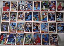 1991 Topps Montreal Expos Team Set of 31 Baseball Cards