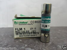 New Lot Littelfuse FLM 1 Amp Fuses Bussmann FNM 1 250 Volts NIB