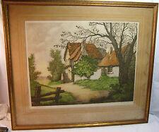 French Etching Society, Rene Barnaix, End of Village, La Fin Du Hamean, Aquatint