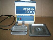BRANSON 1200 2 QUART ULTRASONIC CLEANER W/HEATER-STAINLESS TANK AND BASKET-used