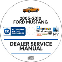 Ford Mustang 2005-2010 Factory Service Repair Manual GT Coupe Convertible