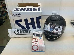 Shoei RF-1400 Nocturne Full Face Motorcycle Helmet - Silver Black - Medium