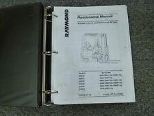 Raymond DSD30 DSD35 DSD40 DSD50 DSD5E DSD60 Forklift Service Shop Repair Manual