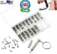 1000 Tiny Screws Nut Screwdriver Watch Eyeglass Glasses Repair Tool Set Kit Phon