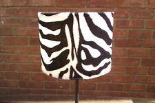 20 x 15cm Black &.White Adult Zebra Print Faux Fur Lampshade & Ceiling Pendant