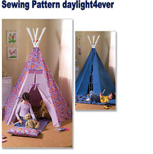 Child Bedroom Tepee Mat Tent Boy Girl Sewing Pattern 4251 Butterick New