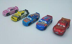 Set of 5 Disney Pixar's Cars 3 Diecast Brian Spark Revler Meeker Rev-N-Go #95