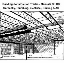 Building Construction Trades -13 Training Manuals on CD