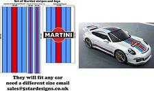 Autocollant bande et Logo Porsche 911 autocollant style le Mans Martini Racing A648L