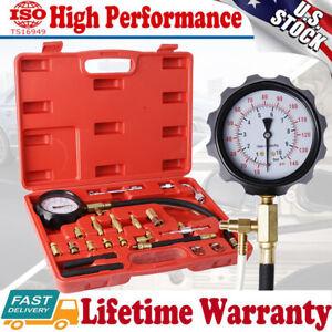 140 PSI Fuel Injection Pump Pressure Injector Tester Test Pressure Gauge Kits US
