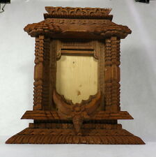Vintage Collectible Handmade Wood Carved Thailand Picture Frame - Estate
