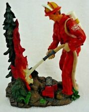 Wilderness Forest Firefighter Figurine Statue Fireman NIB New Free Shipping
