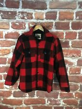 $450 Vintage Woolrich Buffalo Plaid Check Lumberjack Lined Country Work Jacket