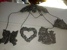 New listing Welcome Freinds Windchime designs on both sides thick metal