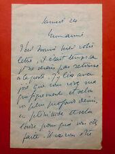 Félix VALLOTTON - Lettre autographe