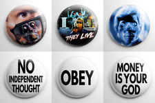 Science Fiction - They Live Pin Back Button Set (A)