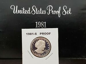 1981-S TYPE 1 CAMEO PROOF SUSAN B. ANTHONY DOLLAR TYPE 1  IN 2X2 GEM !!
