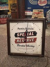 Vintage Sessions Austin Nichols Special Reverse Whiskey Advertising Clock