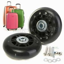 2 Set OD 70mm Luggage Suitcase Replacement Wheels Axles Repair Wrench Deluxe New