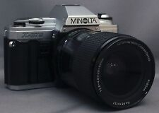 MINOLTA X-370 35mm VINTAGE SLR Film Camera MC F3.8 28-80mm Lens Very CLEAN!
