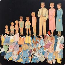 Original Vintage The Family of Paper Dolls, 1932, Cut, Queen Holden Art