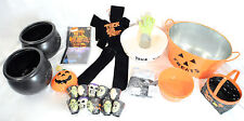 Lot of Halloween Decor, Cauldron's, Baskets, Spooky Music, and More. Great Deal!